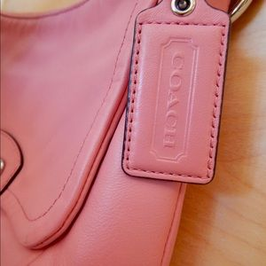 Coach Kristin Rose Pink Leather Crossbody Bag